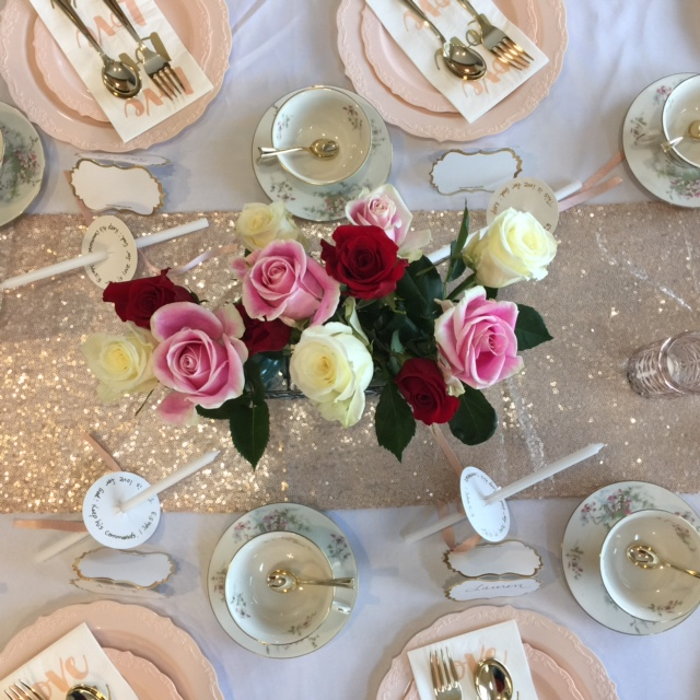 Valentine Tea table setting
