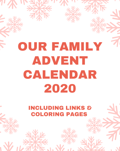 Family Advent Calendar 2020